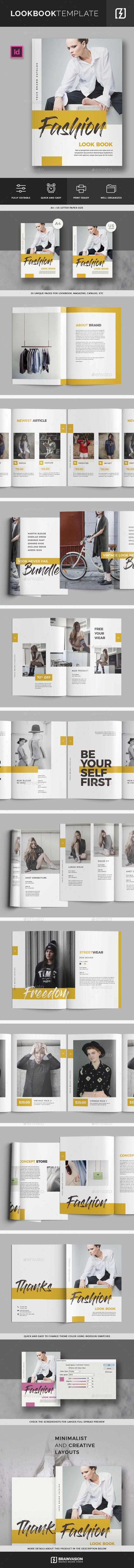 Lookbook Fashion Magazine Template InDesign INDD