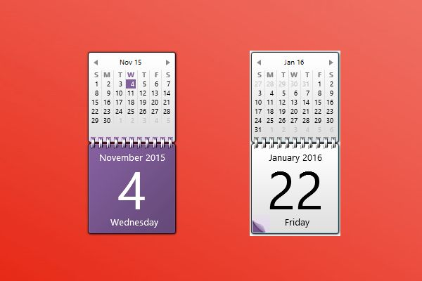 purple calendar gadget for windows 10      win10gadgets