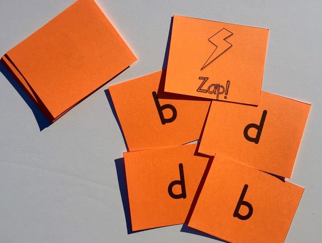My students love practicing identifying b and d with this Zap! game.