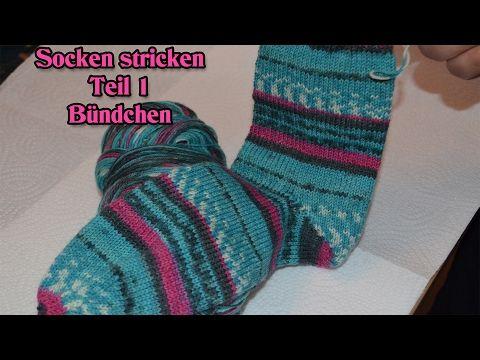 Socken stricken | Socken mit Rundstricknadel | Addi Sockenwunder - YouTube