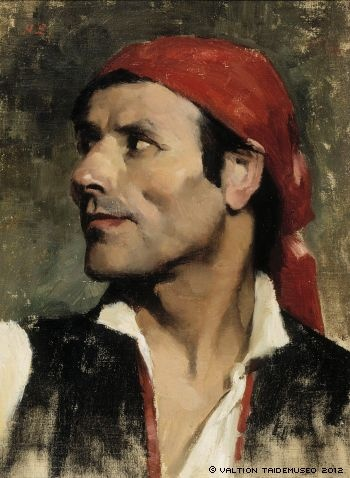 Espanjalainen (Spaniard), Helene Schjerfbeck, 1881, The Finnish National Gallery Ateneum, Helsinki