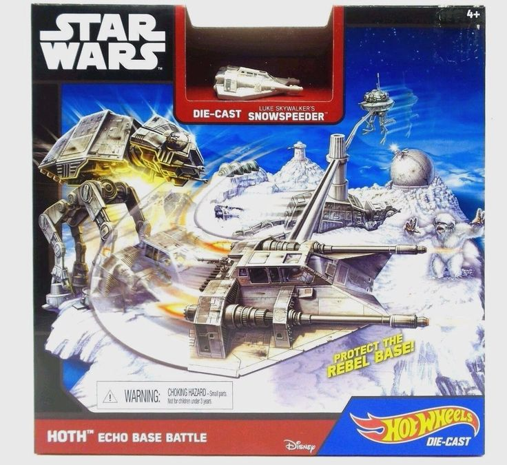 Star Wars Starship Hoth Echo Base Battle Play Set Snowspeeder Hot Wheels New Hoth Echo Base Battle play set. It'sup to you to defend the Rebels' Echo Base from the Empire Send the Snowspeeder Starship flying across the icy terrain Defeat the menacing AT-AT and the fearsome Wampa to save the galaxy Makes a great gift for fans of all ages Hot Wheels and Star Wars—have joined forces! Kids will love re-creating the epic battle Episode V The Empire Strikes Back On the snowy planet of Hoth. Ages…