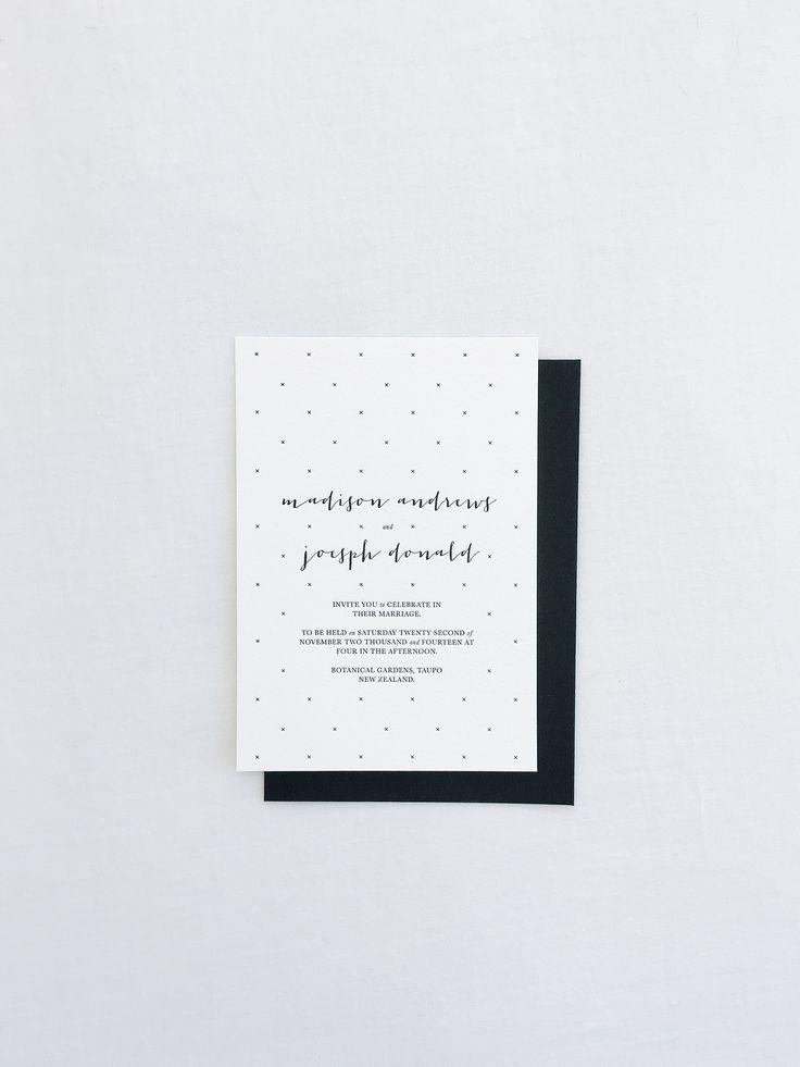 Minimal letterpressed wedding stationery - Make Hey