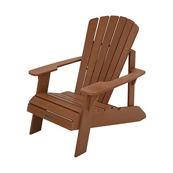 Amazon Com Lifetime Faux Wood Adirondack Chair Brown 60064