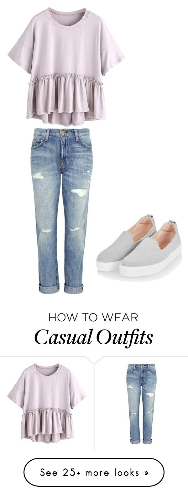 """""""Casual Lola"""" by jayarelle on Polyvore featuring Current/Elliott and Topshop"""