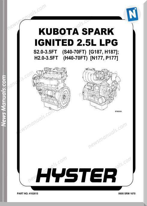 Kubota Spark Ignited 2 5L Lpg Service Manual | News Manuals