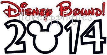 """Disney Bound 2014"" Applique/Embroidery - 5x7 6x10"