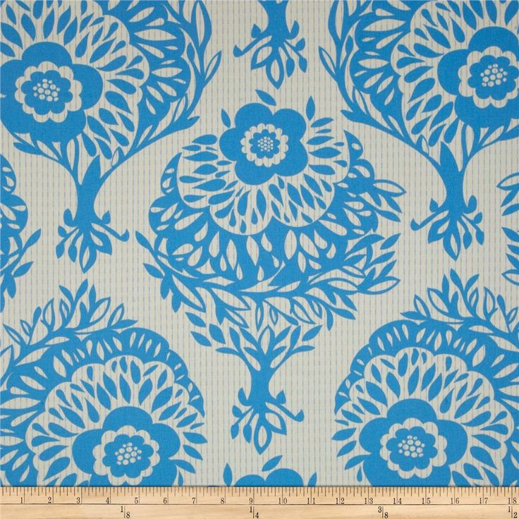 Anna+Maria+Horner+LouLouThi+Sateen+Woodcut+Daydream from @fabricdotcom  Screen+printed+on+cotton+sateen;+this+medium+weight+fabric+designed+by+Anna+Maria+Horner+is+very+versatile.+This+fabric+is+perfect+for+window+treatments+(draperies,+valances,+curtains,+and+swags),+bed+skirts,+duvet+covers,+pillow+shams,+accent+pillows,+tote+bags,+aprons,+slipcovers+and+upholstery.+Colors+include+blue+and+ivory.