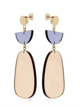 isabel marant - femme - boucles d'oreilles - boucles d'oreilles en plexiglas