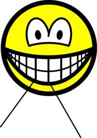 Flossing smile Dental floss