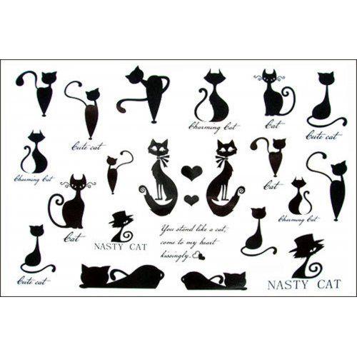 2012 latest new design new release Men and women waterproof temporary tattoo kitten series tattoo sticker