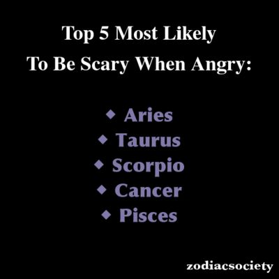 Aries: Top 5 Most Likely To Be Scary When Angry... TRUE, I can be YOUR worst nightmare. Especially, when my facts are correct!
