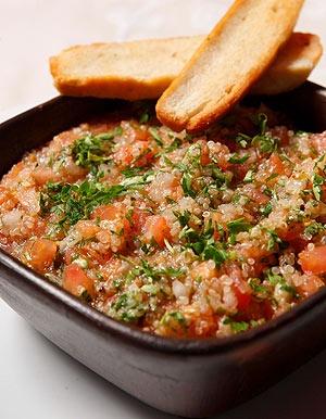 Chilean Quinoa pebre salsa