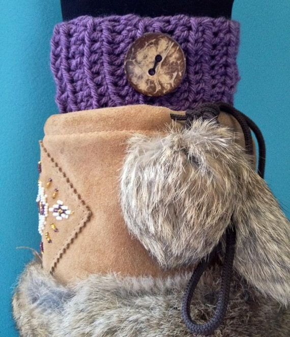 Crochet Ribbed Boot Cuffs Boot Toppers  Purple by KnotSewKrazy, $24.99