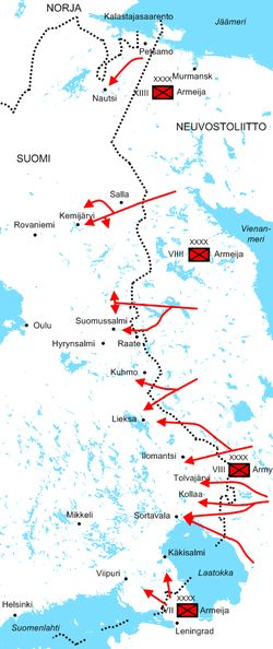 Winterwar-december1939-soviet-attacks finnish - Talvisota – Wikipedia