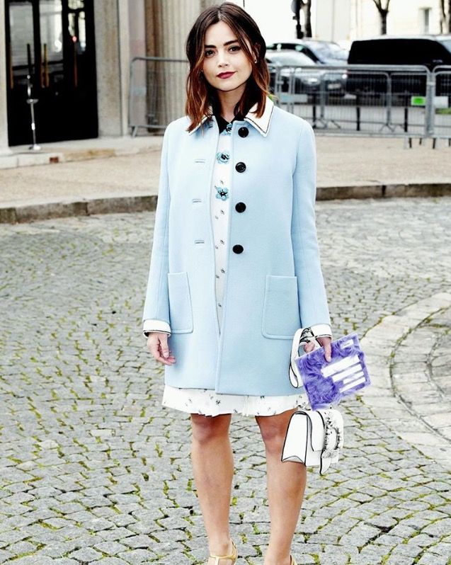 Jenna Coleman at the Miu Miu Fall 2017 Fashion show