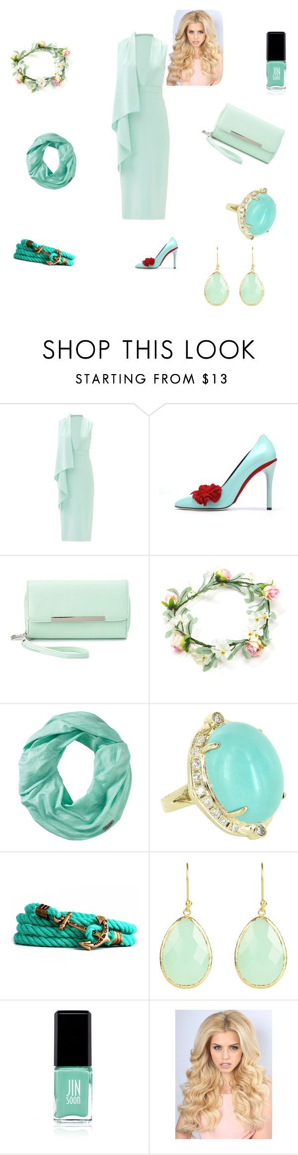 """Go green"" by princessgrace203 ❤ liked on Polyvore featuring Cushnie Et Ochs, Oscar de la Renta, Charlotte Russe, Smartwool, Vintage, Kiel James Patrick and JINsoon"