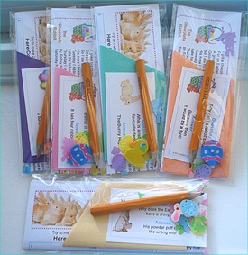 Easter Crackers  activity packs filled with puzzles, Easter faqs, bunny jokes, paper hat, easter erasers and a puzzle pencil.