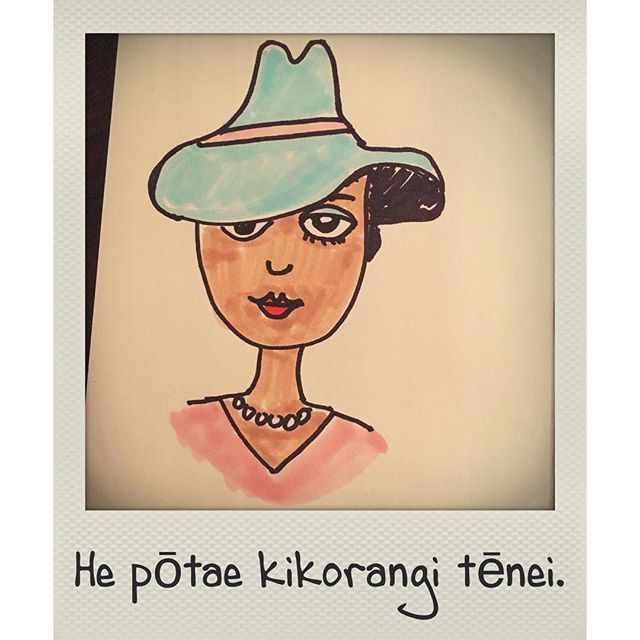#TeReoMāori This is a blue hat. #doodle #AKLlife