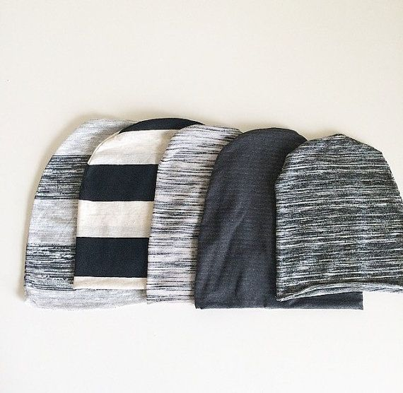 Slouch Beanie  Stripe Prints in Multiple Colors by finnandolive