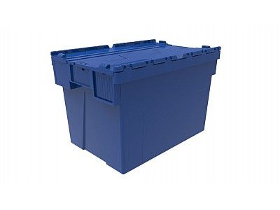 77 Litre Super Strong Attached Lid Container - Lidded Plastic Storage Box