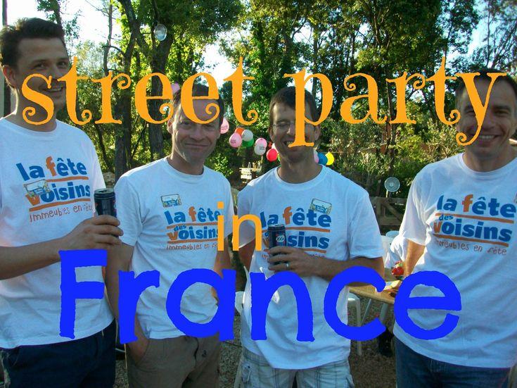 La fête des voisins - annual neighbourhood street party in France