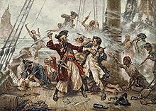 Capture of the Pirate Blackbeard 1718