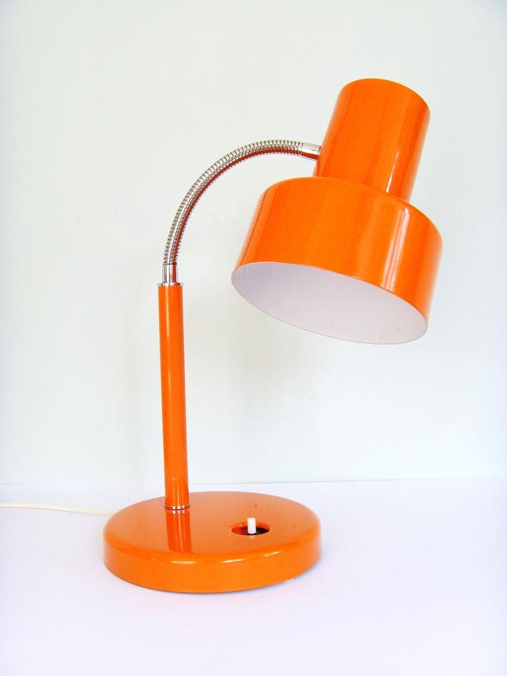 Vintage orange Pifco desk lamp