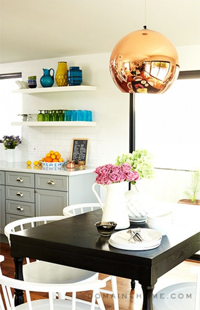 Having a Moment: Blue-Gray Kitchen Cabinets   MyDomaine   this is nice too -L