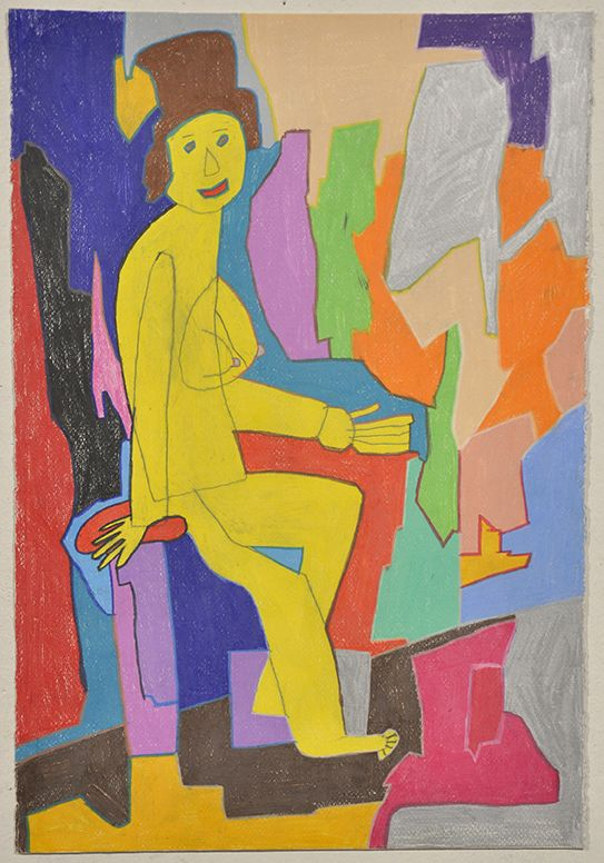 Anthony Romagnano Not titled (nude) Colour pencil on paper 56cm x 38.5cm 2013 Copyright the artist.  Represented by Arts Project Australia.