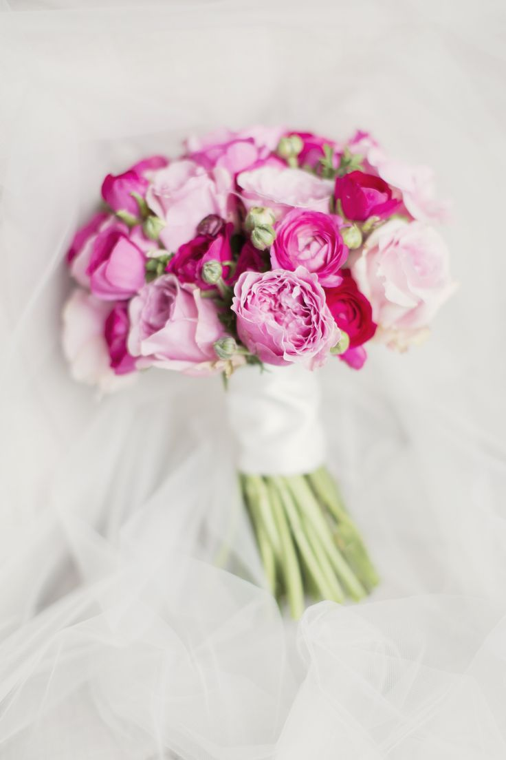 My wedding bouquet - David Austin Garden Roses - Kirsties Flowers - Troon, Scotland
