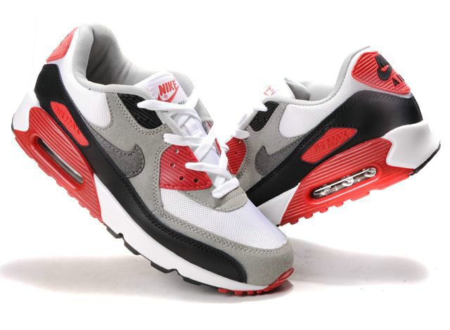 Find Online Nike Air Max 90 Mens White Black Gray Red online or in  Footlocker. Shop Top Brands and the latest styles Online Nike Air Max 90  Mens White Black ...