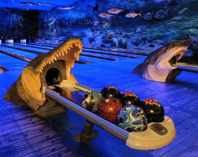 Gator Shark Bowling Ball Return 12th Frame Ideas