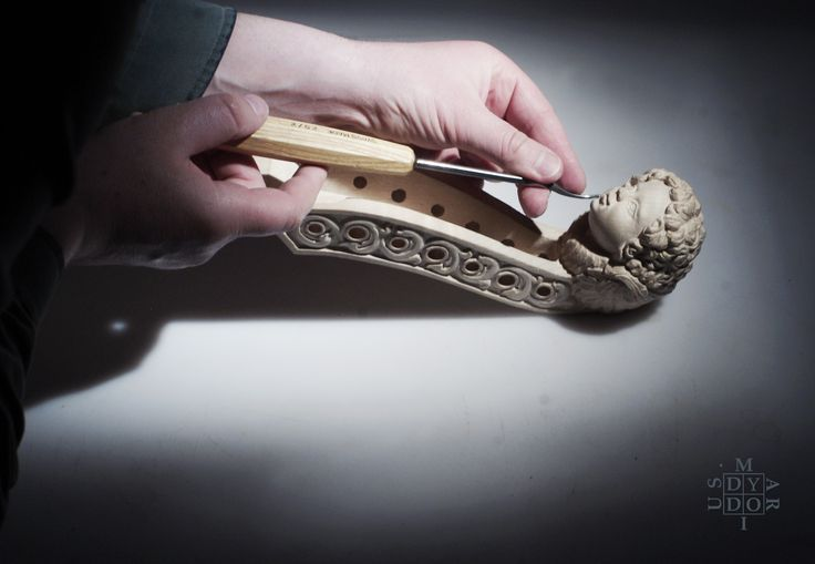 Head sculpture created by Mariusz Dydo for luthier- Matthew Farley. Jun 2017