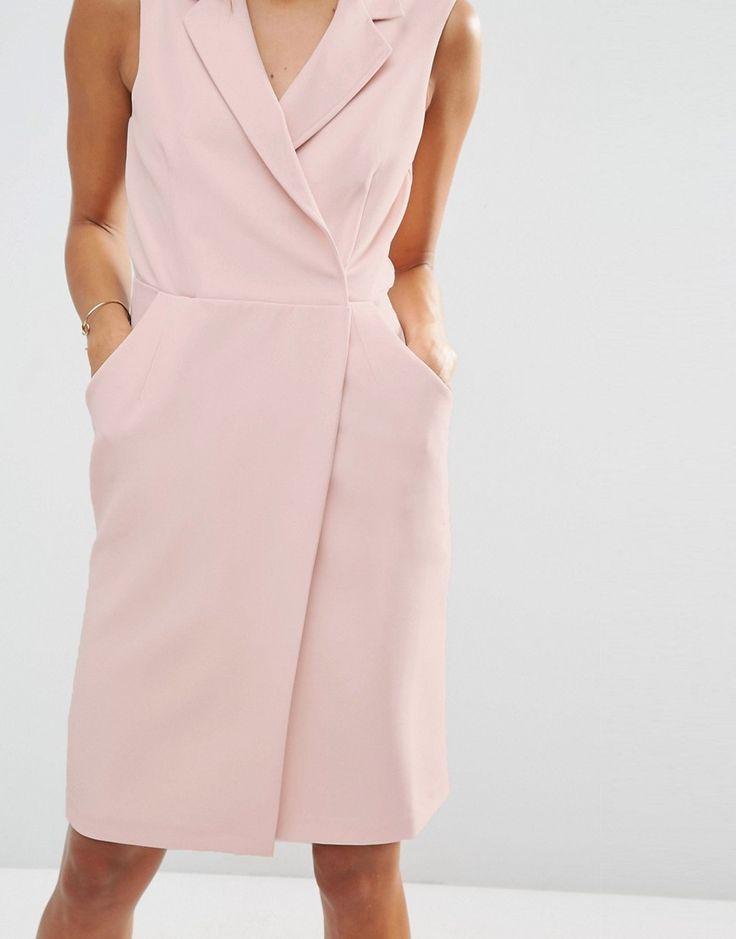 Image 3 ofASOS TALL Sleeveless Tux Dress
