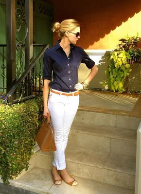 White jeans :: The most perfect pant!