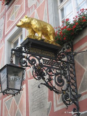 There has been a restaurant in this location since the 1100s.  The elaborate sign with the golden bear proclaims this is the oldest restaurant in Germany.