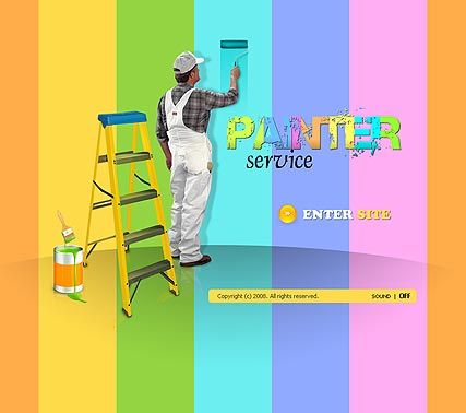 house painting template website painting services pinterest house painter flash templates. Black Bedroom Furniture Sets. Home Design Ideas