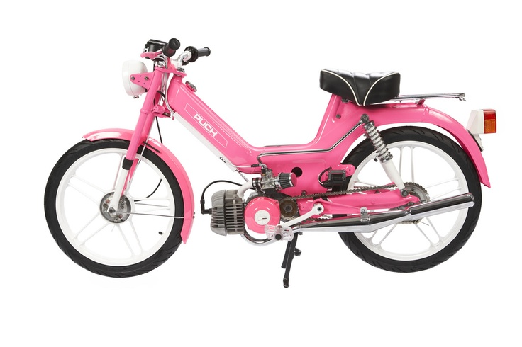 1977 Pink Moped! #throwback #moped #sweetride #morepinkbda