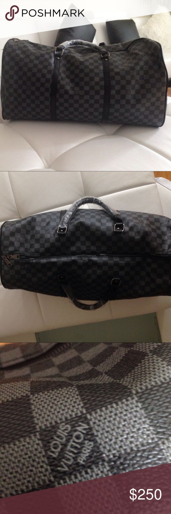 Louis Vuitton duffel bag brand new This Louis Vuitton duffel bag is brand new, the strap for it is not the best but it does the job, I will ship out the same day and make sure that the packaging is 100% neat and correct,this duffle bag is a REP, thank you Louis Vuitton Bags Duffel Bags