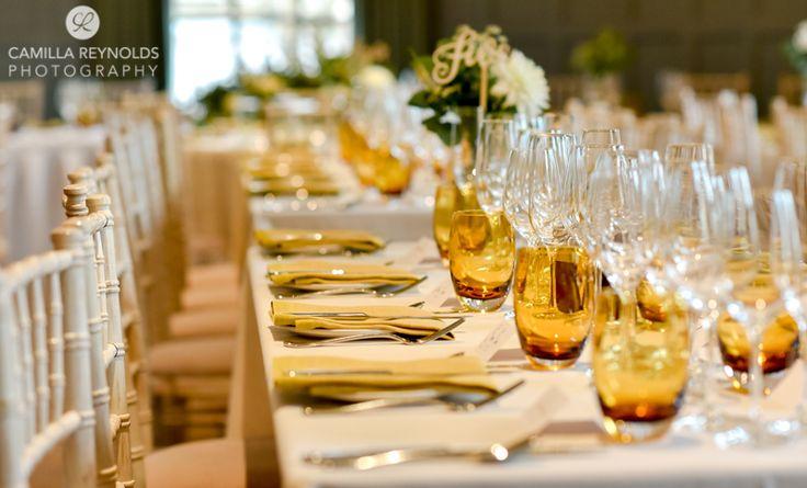 Wedding table set up mustard yellow theme