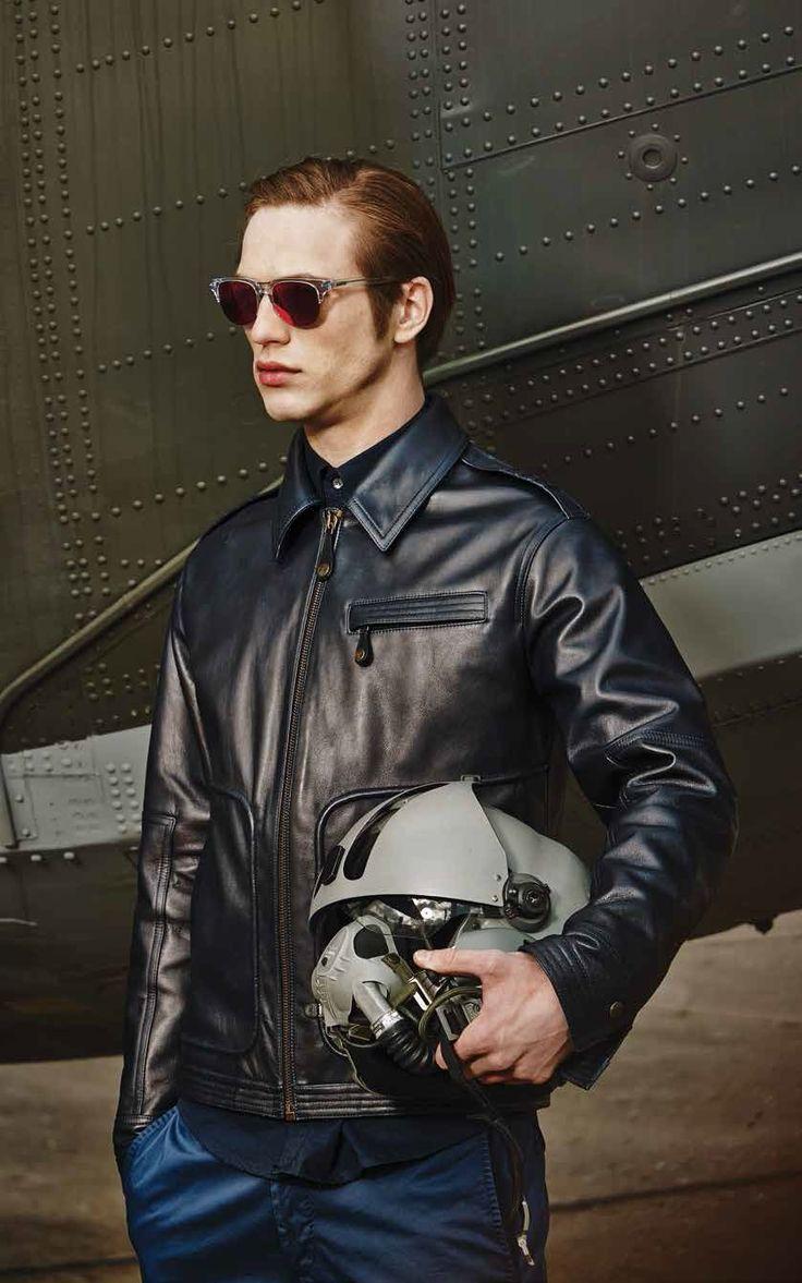 Blouson cuir aviateur
