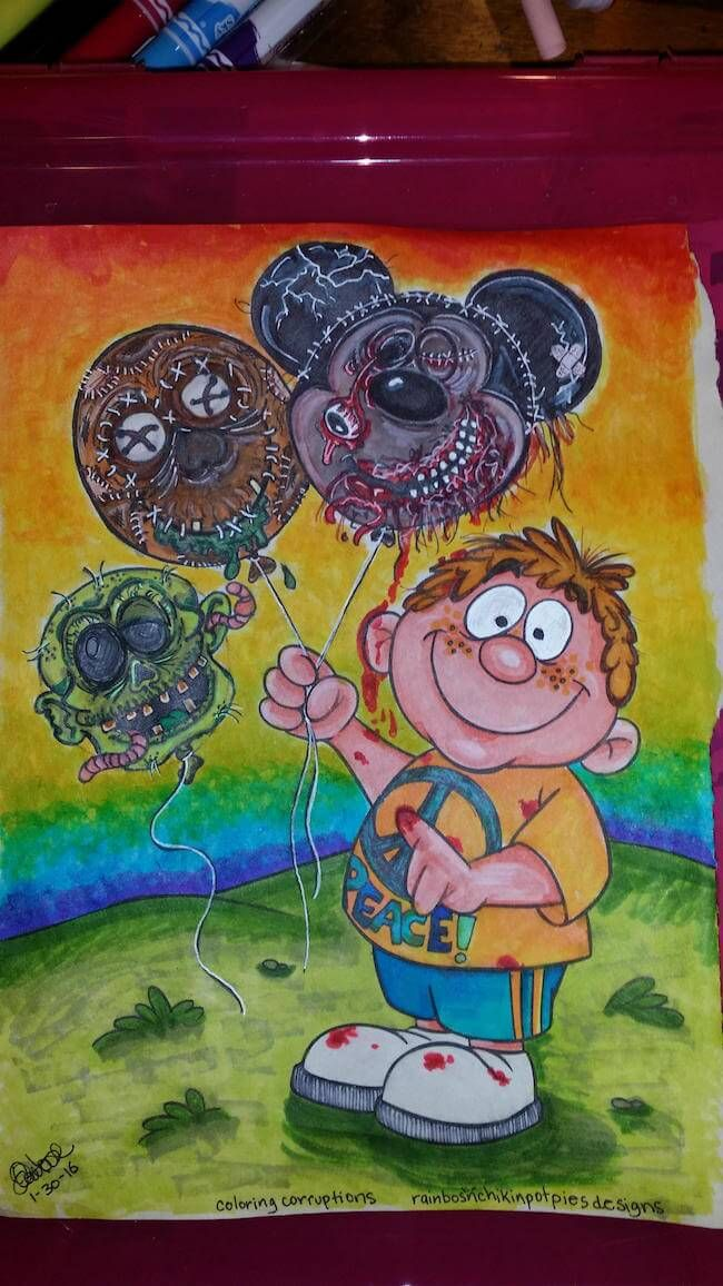 61 Best Corrupted Coloring Books Images On Pinterest