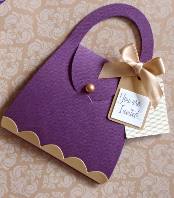 17 Best images about Kristens Bridal shower – Handbag Party Invitations