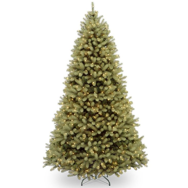 9-ft. Pre-Lit Dual LED ''Feel Real'' Downswept Douglas Fir Artificial Christmas Tree, Green
