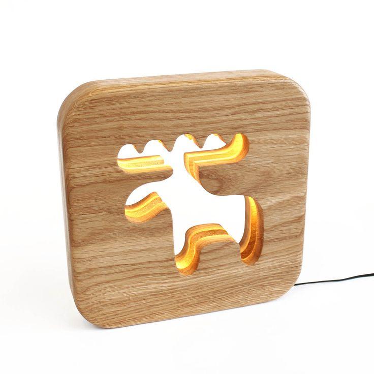 Veilleuse caribou bois pour enfants : Décoration pour enfants par blumen alittlemarket