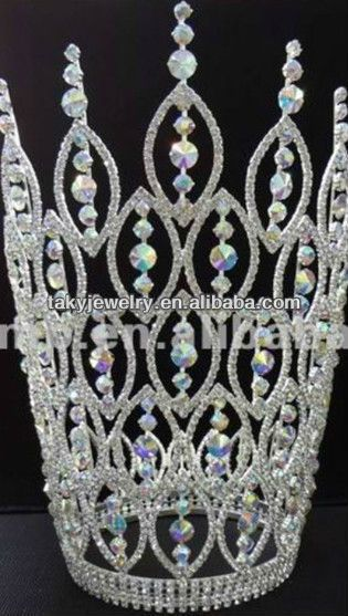 tall pageant crowns,silver pageant crown, crown for adult $20~$40