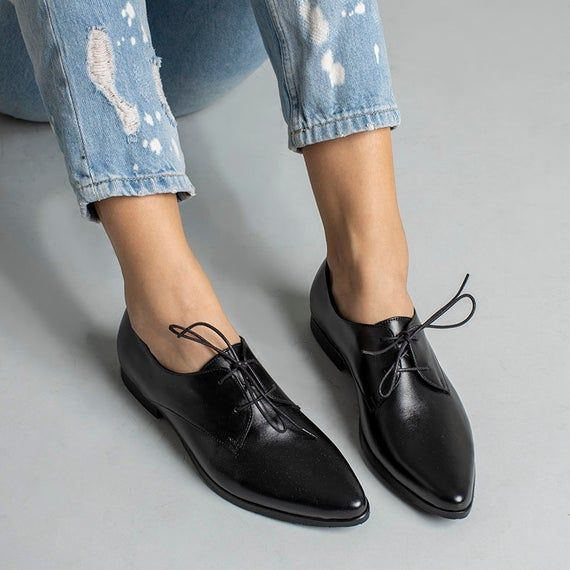 Details about  /Pointed Toe Shoes Casual Womens Low-heels Comfort shiny-leather Loafers Wrork