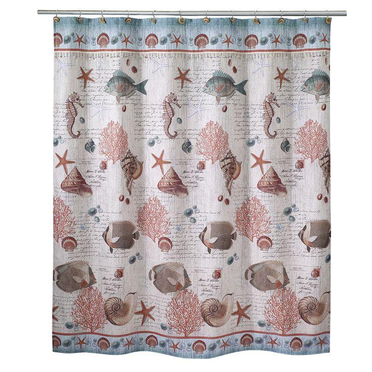 Seaside Vintage Shower Curtain