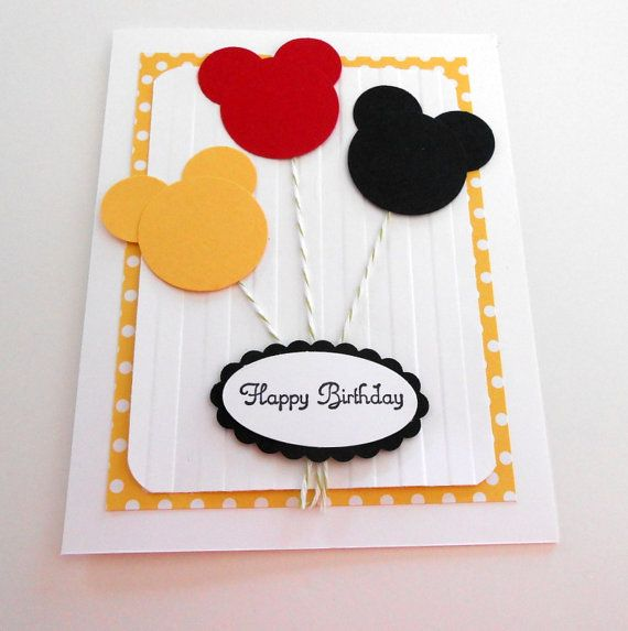 Mouse Birthday Micky Mouse Card